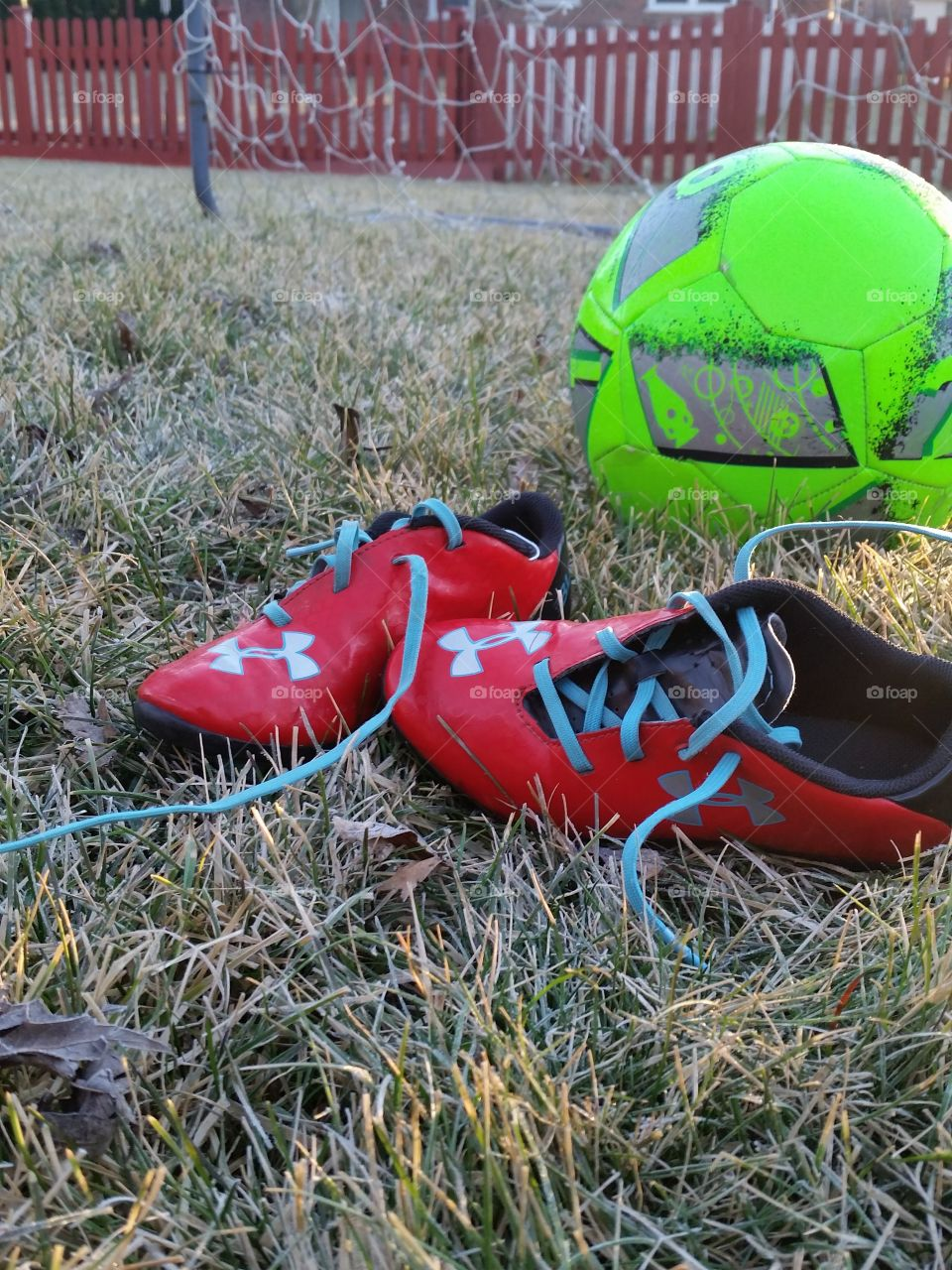 red cleats