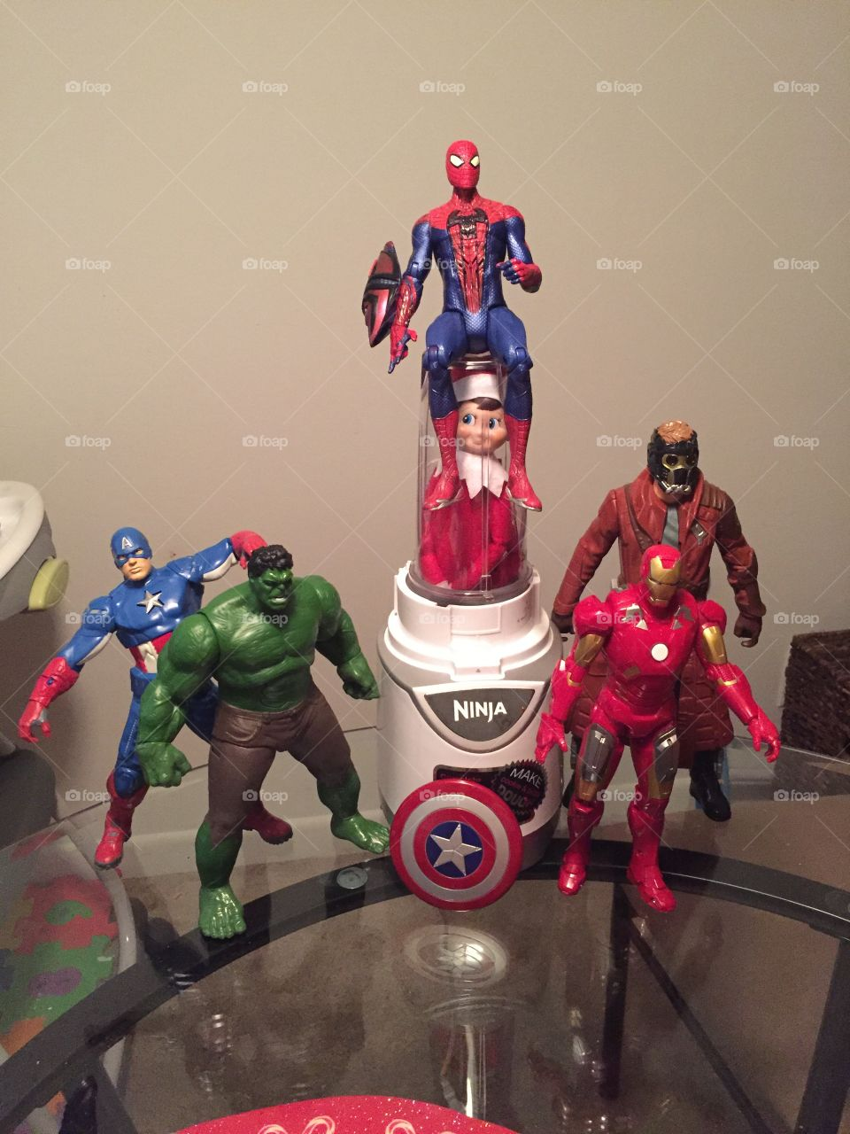 And the Avengers strike again saving the world from this mutant elf on the shelf!