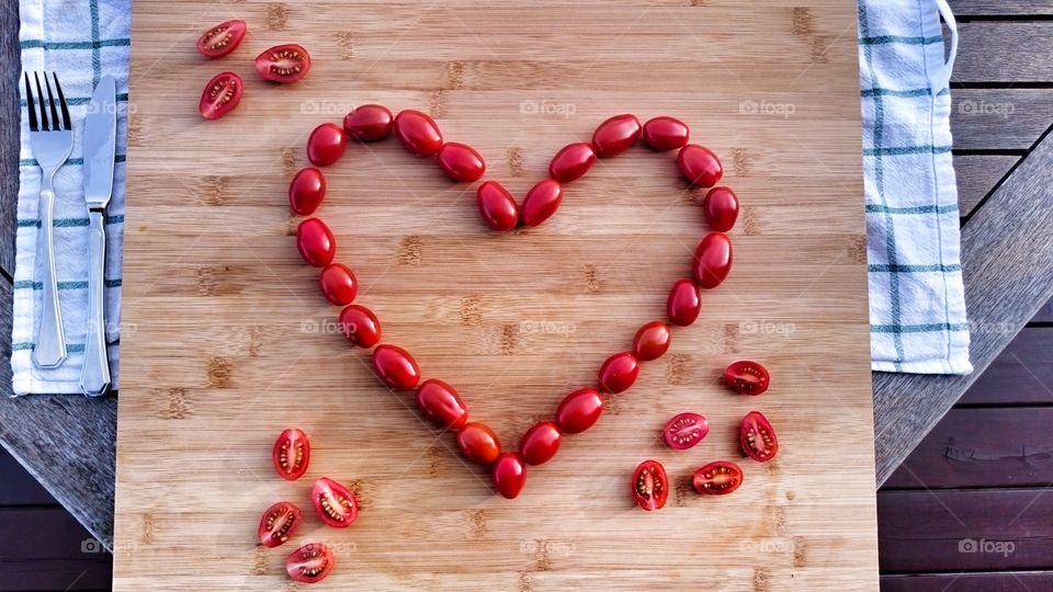 Heart of Cherry Tomatoes