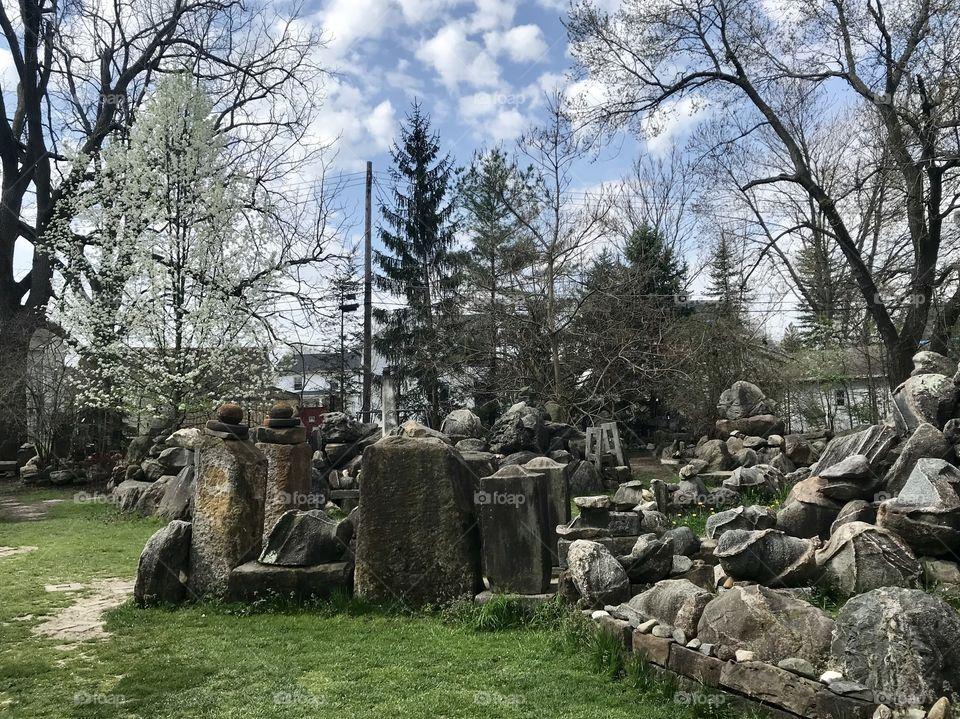 Temple of tolerance rock garden in Ohio