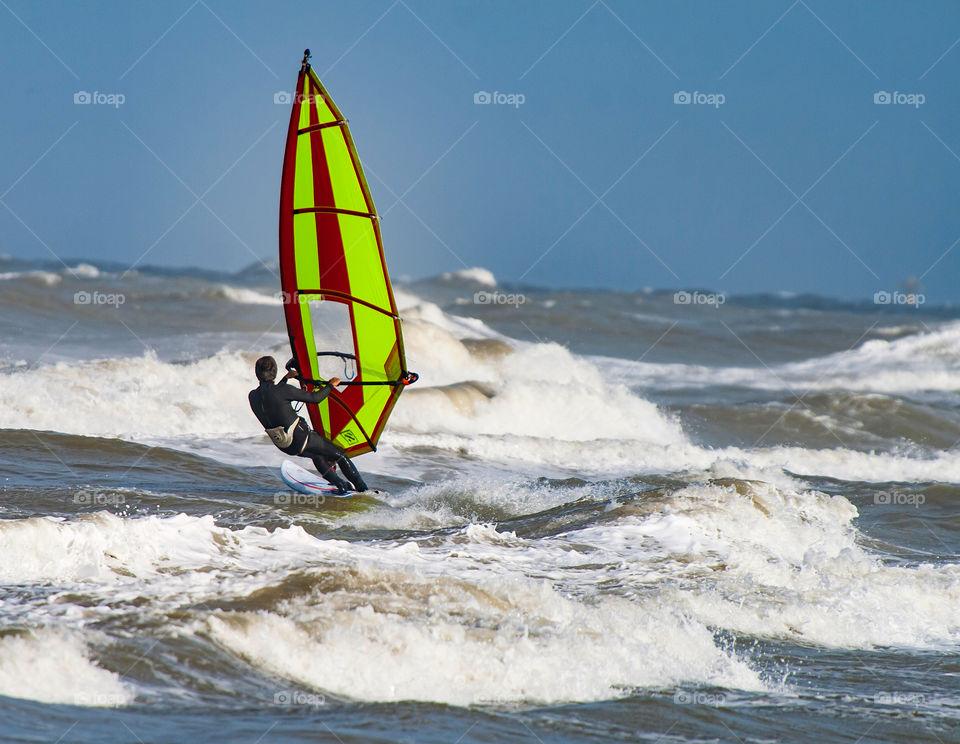 Surfing through high waves