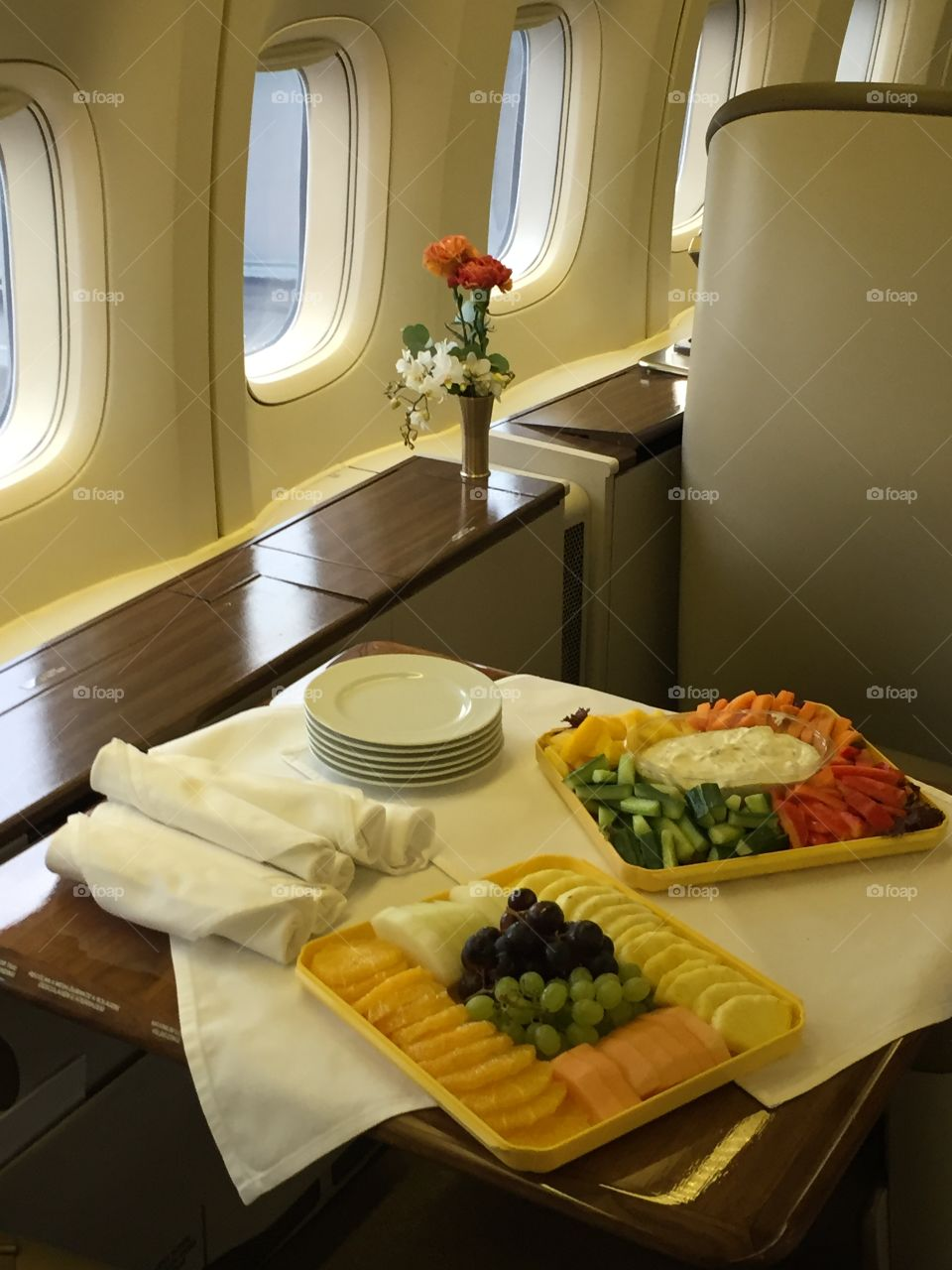 VIP aircraft catering.  747-400