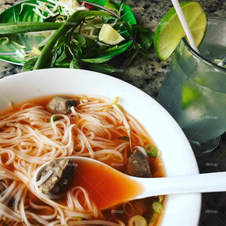 This is probably  my favorite food.  I could eat pho everyday!