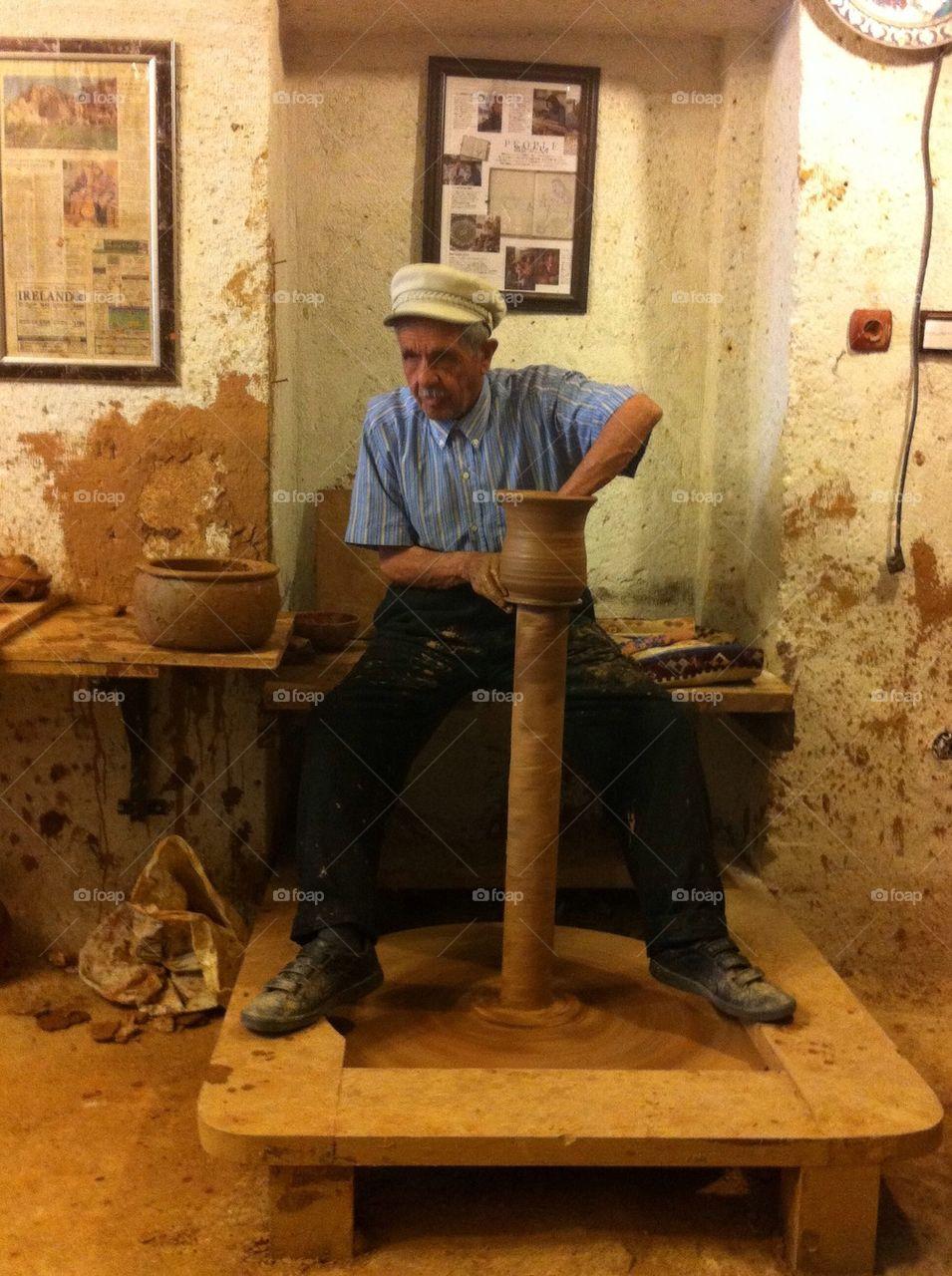 Turkish pottery making