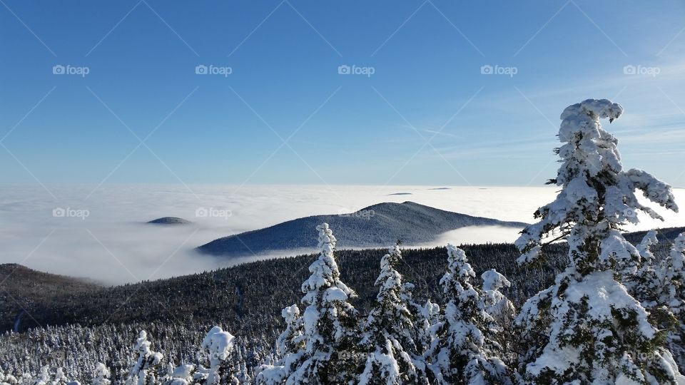 A winter view from Killington Peak, Vermont