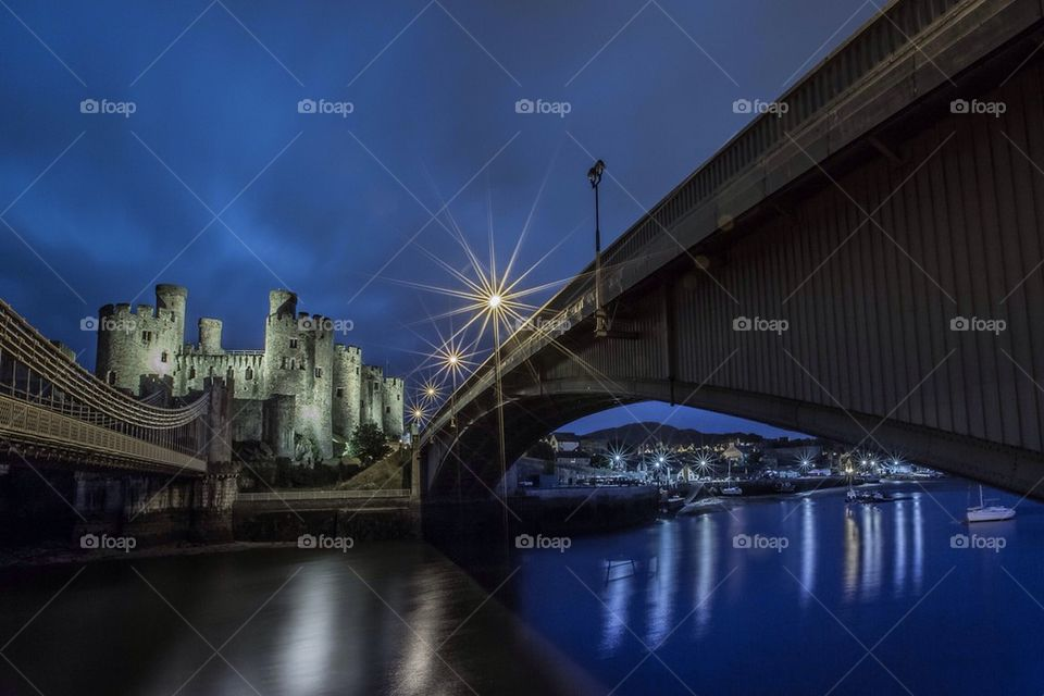 Silvery conwy castle