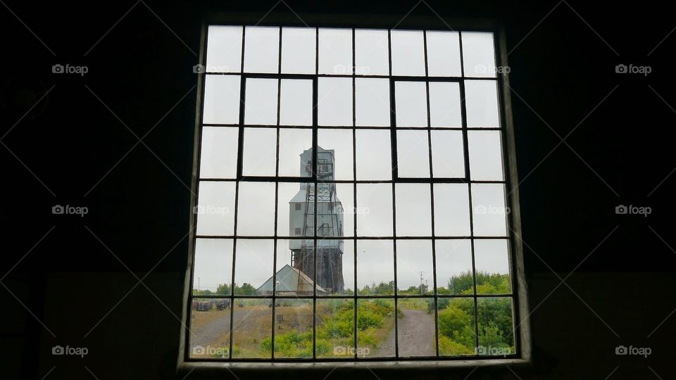 Quincy Mine Shaft. from the Hoist House. Aug 2014. Quincy, MI