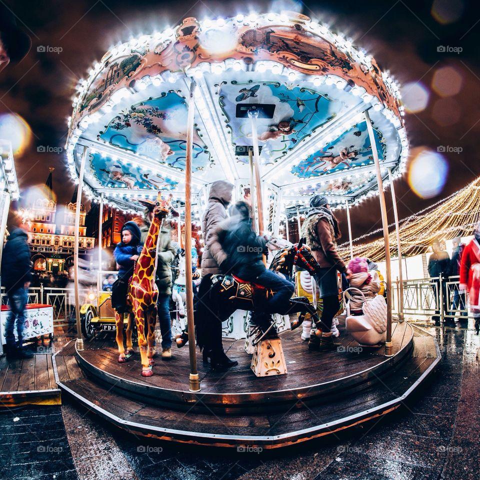 Carousel, Carnival, Fairground, Entertainment, Theme