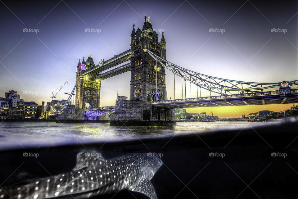 Tower Bridge during sunset, London