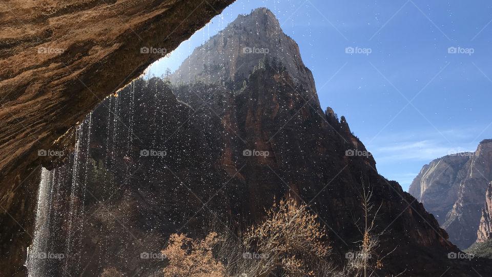 Rainha drops at Zion National park