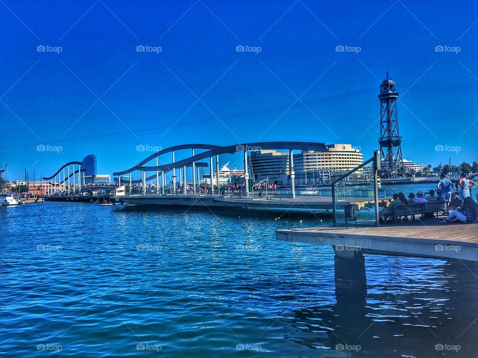 Yacht harbor in Barcelona