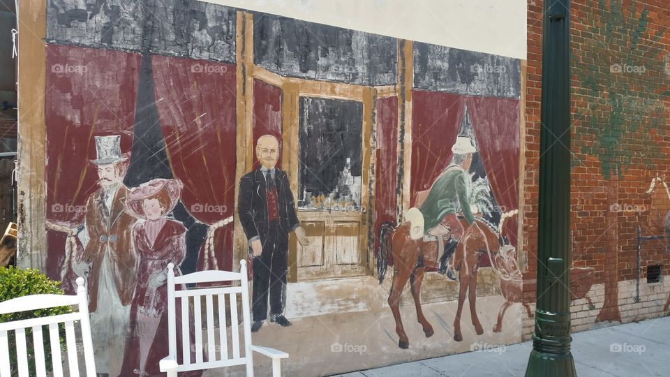 Mural  at the Aiken Brewing Company