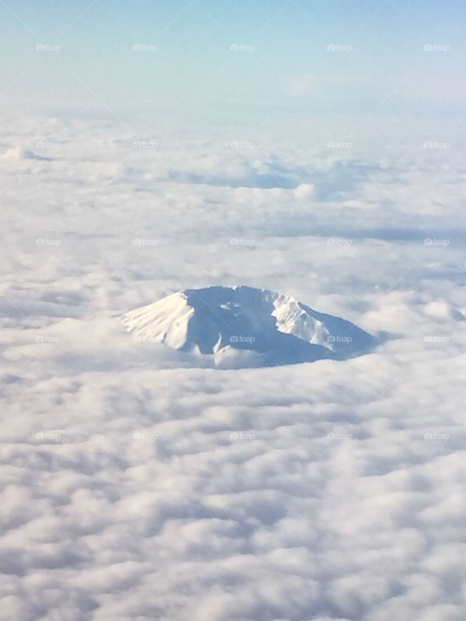 Mt. St. Helens from the air in January 2016