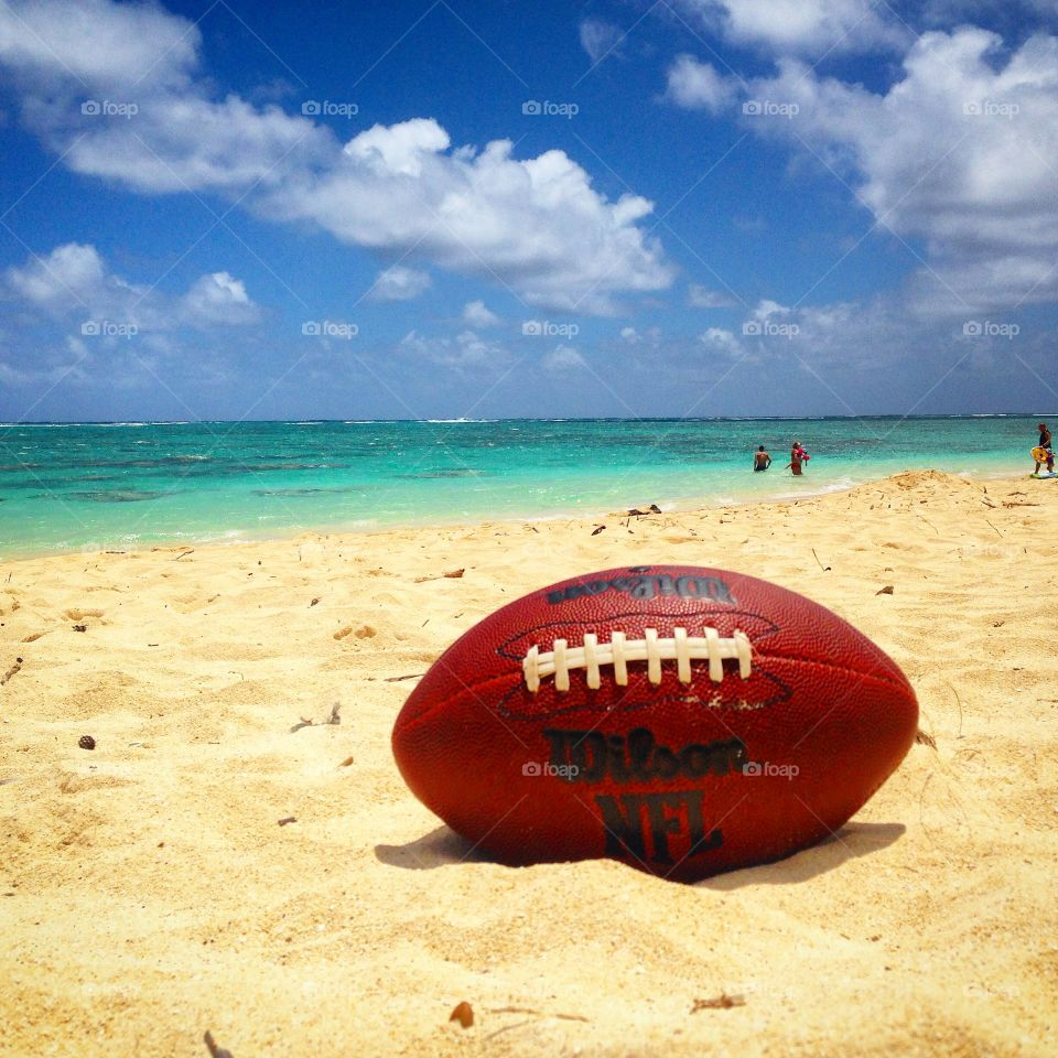 A Football and Lanikai Beach