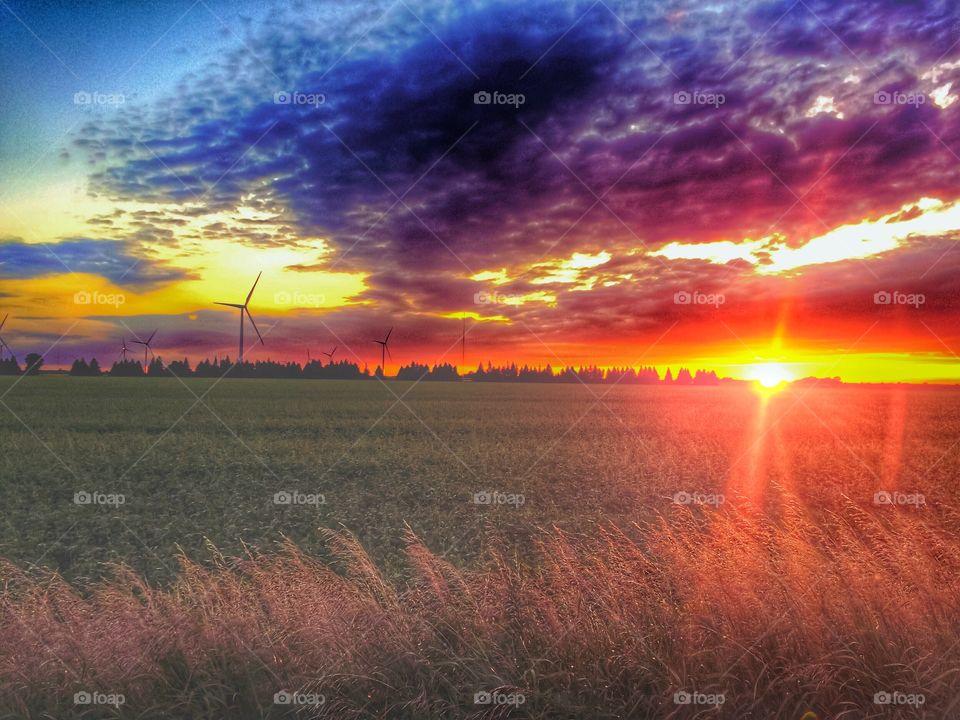 Sunset, Sun, Landscape, Dawn, Nature