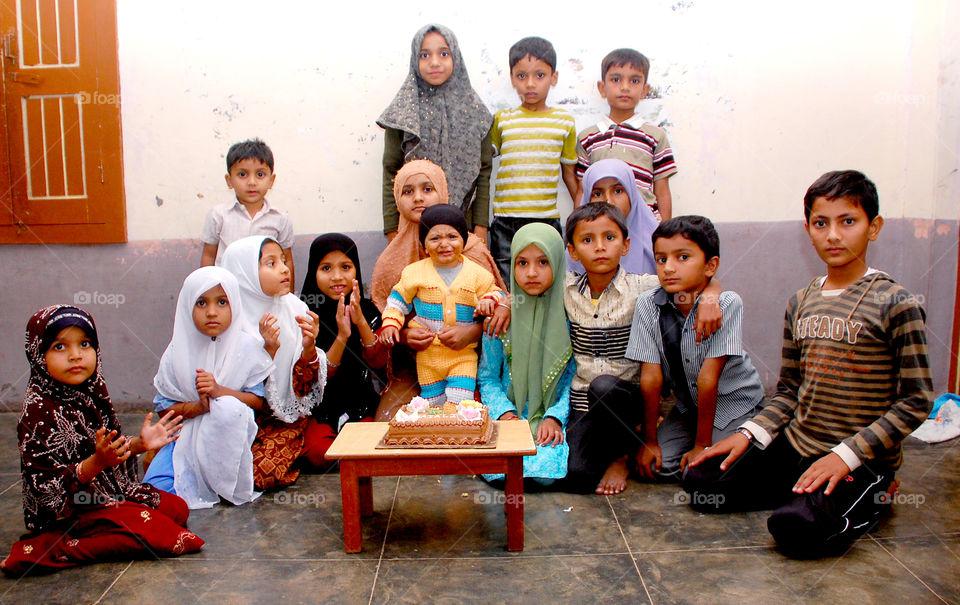 celebrating this kids birthday.....he is name  mr. hadi ali.....hapiness...... happy birthday mr. b.day boy...love u..😍