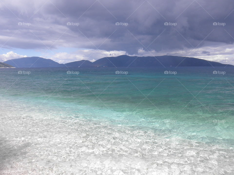 Dramatic sea and sky colors