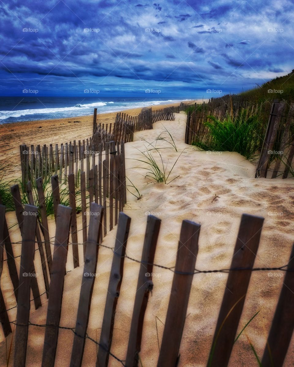 Long Island Main Beach, New York Beaches, Picture Perfect Beaches, Fenceline Along Beach, East Hamptons Beaches