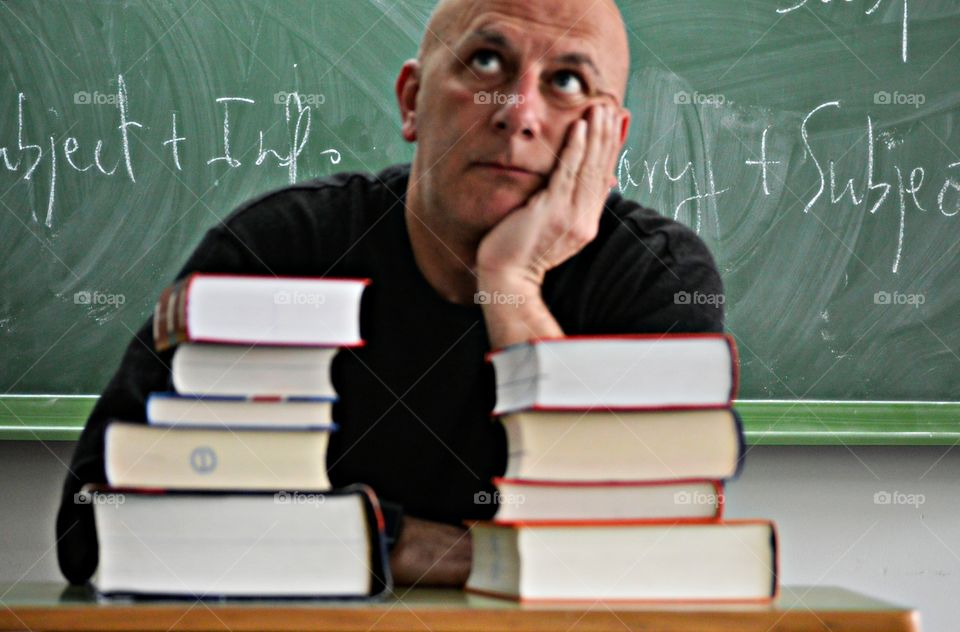 Portrait of a college professor