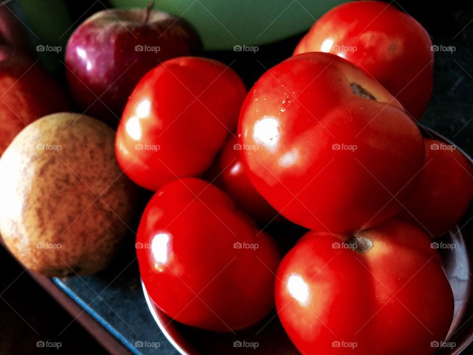 red colour fruit and vegetables