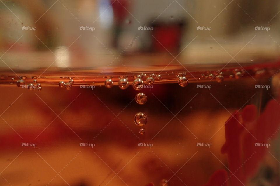 Extreme close-up of waterdrop falling