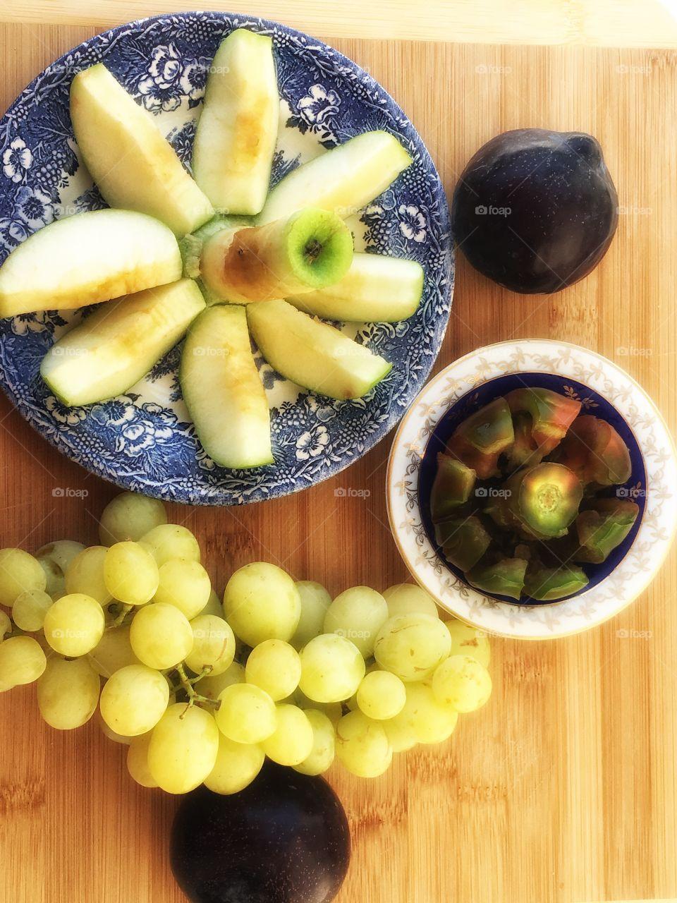 Fresh fruits decorations