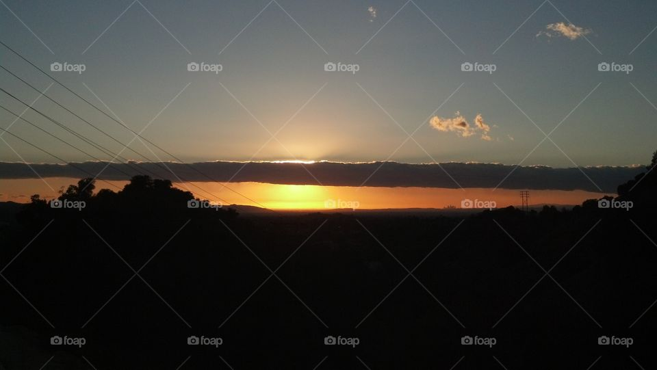 sunrise in La Verne