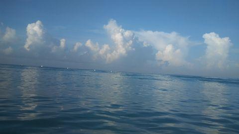 Water meets sky beautiful horizon