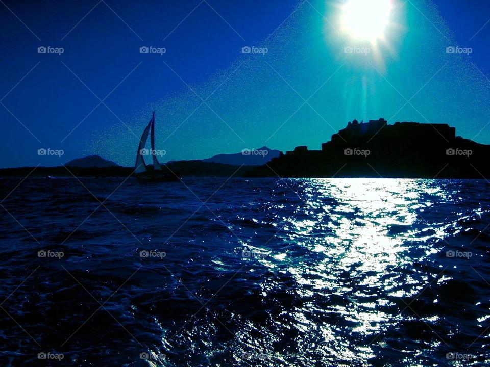 sea and light