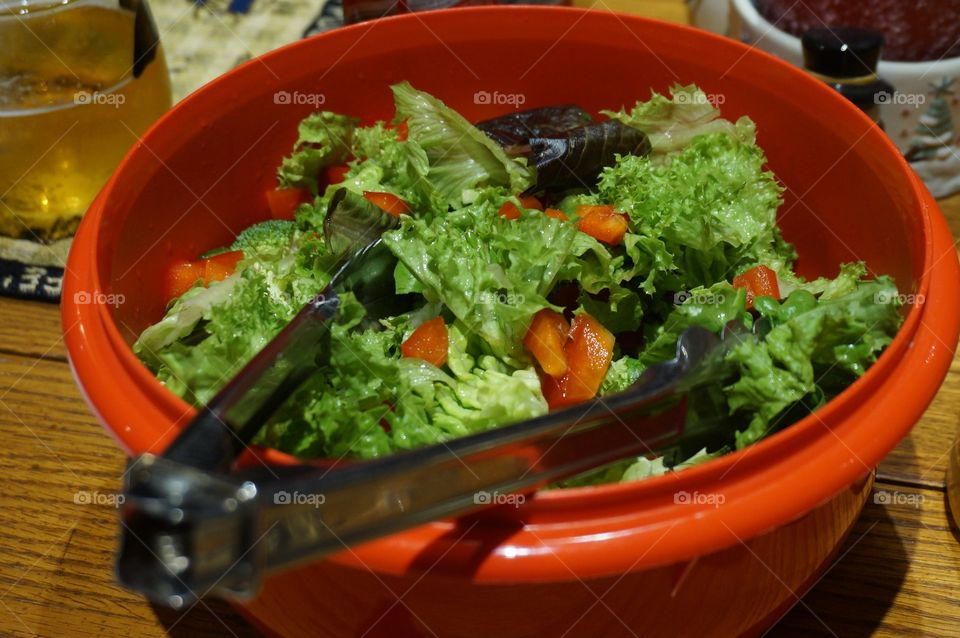 Colorful healthy salad in bowl