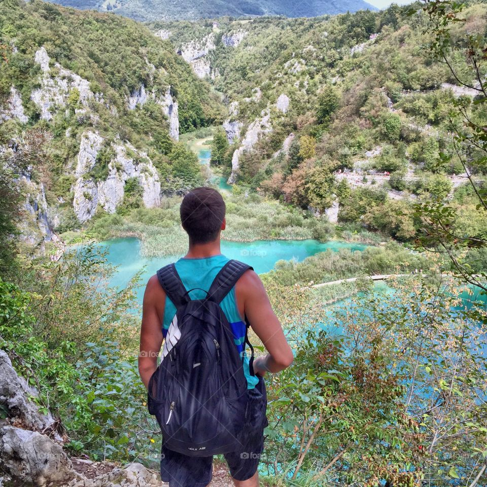 Hiking in the mountains of Croatia featuring the Plitvice Lakes