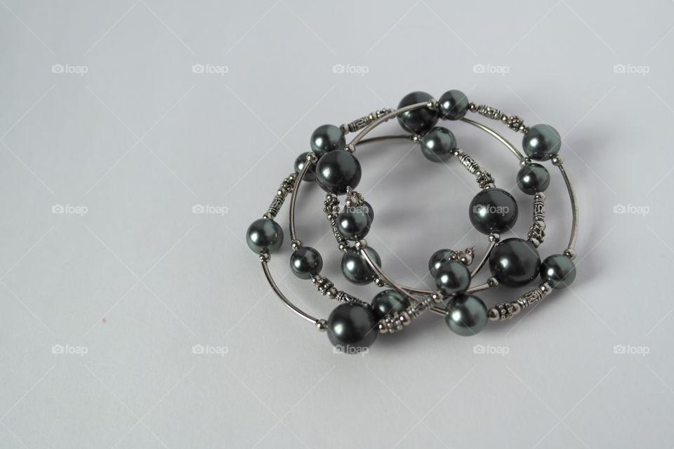Blue freshwater pearl bracelet