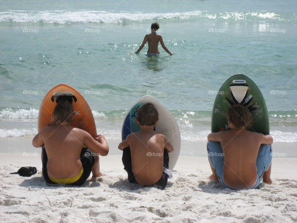 Best Friends at the Beach