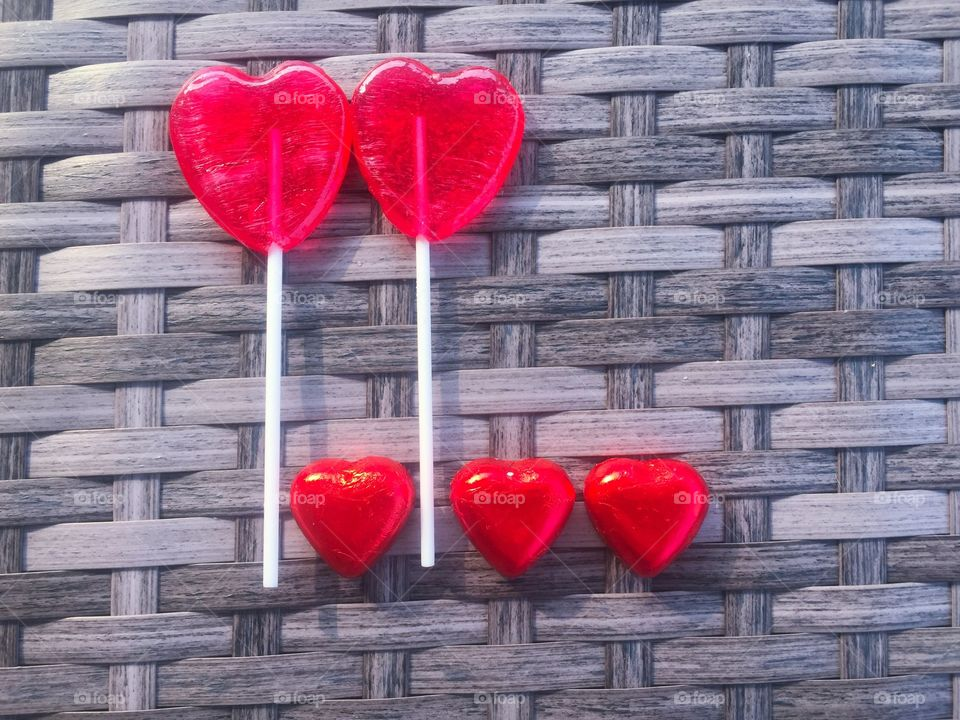 Lollipop with heart shape
