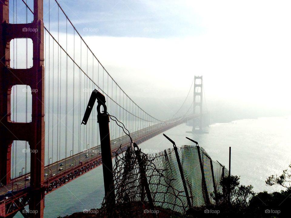 Golden Gate Bridge point of view