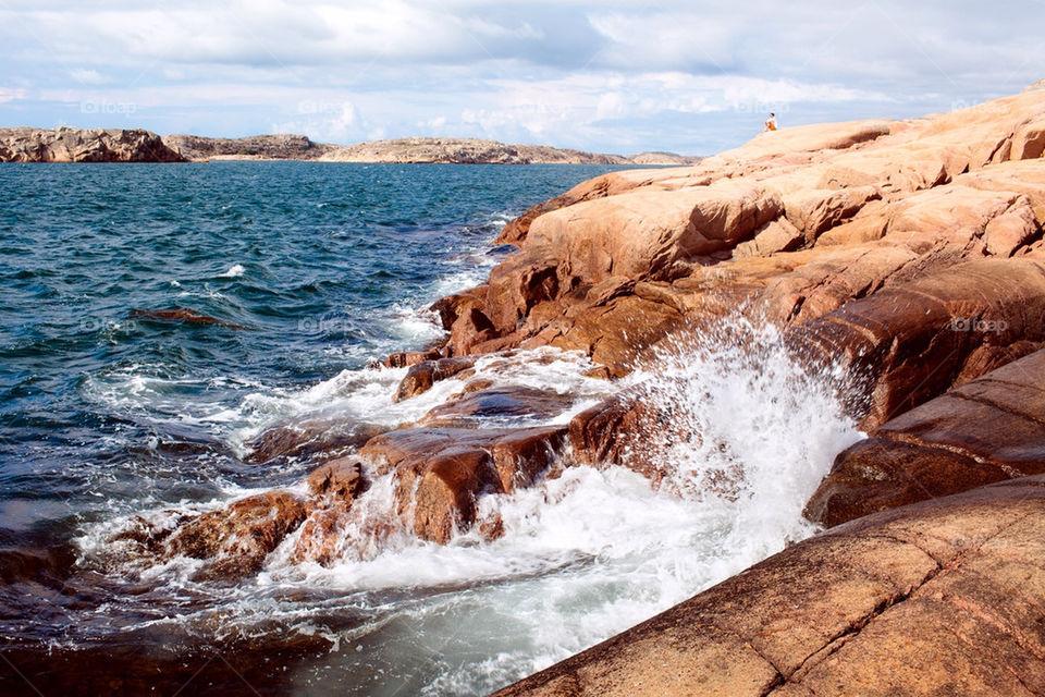 Seaside cliffs in the Swedish westcoast