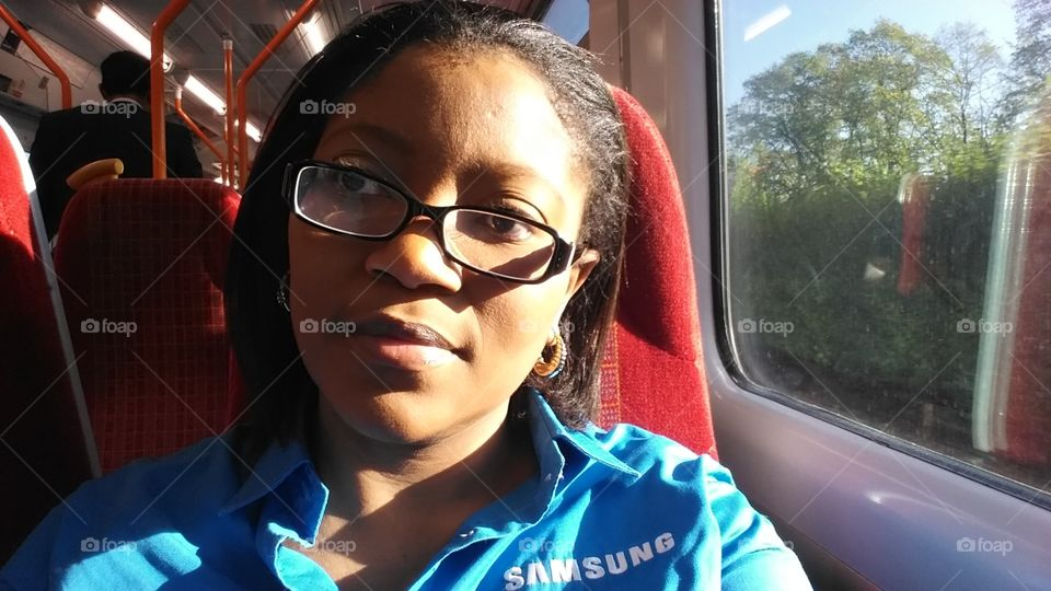 Samsung field force on a train travelling to a Samsung event