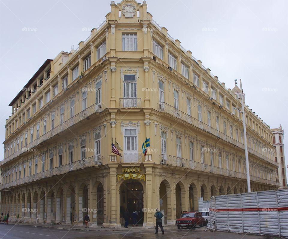 The historic early twentieth century Plaza Hotel in Old Havana, Cuba