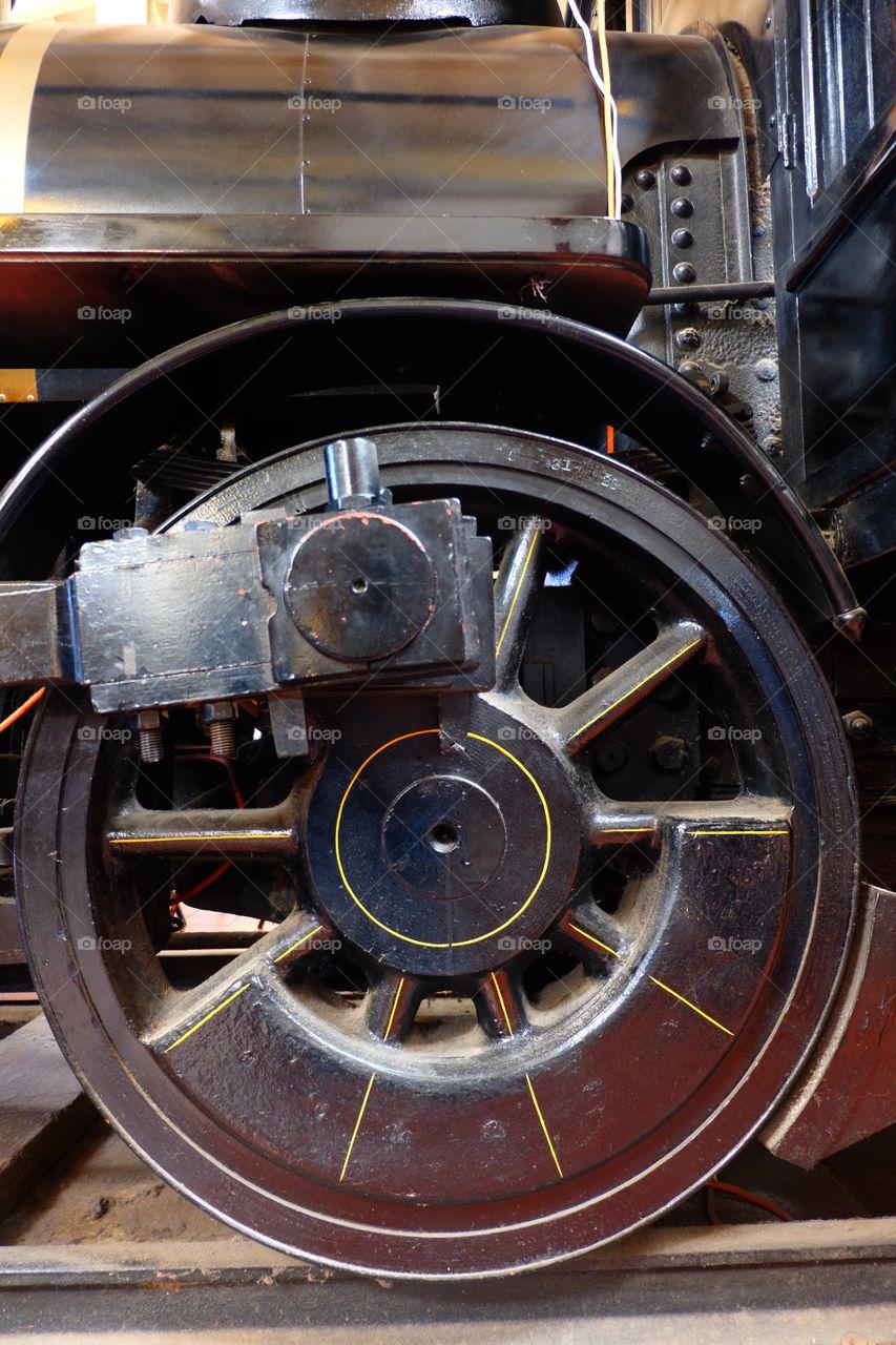 Train parts, metal wheel of vintage train