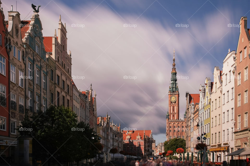 Beautiful old town in Gdańsk