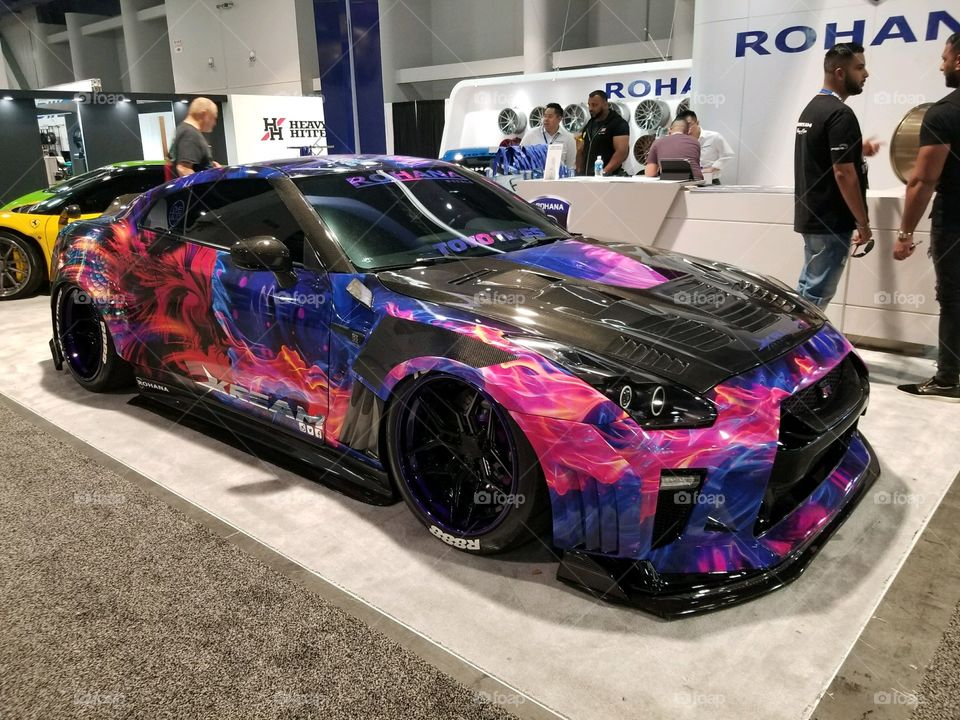 Nissan GTR R35 at the 2017 Sema Show.