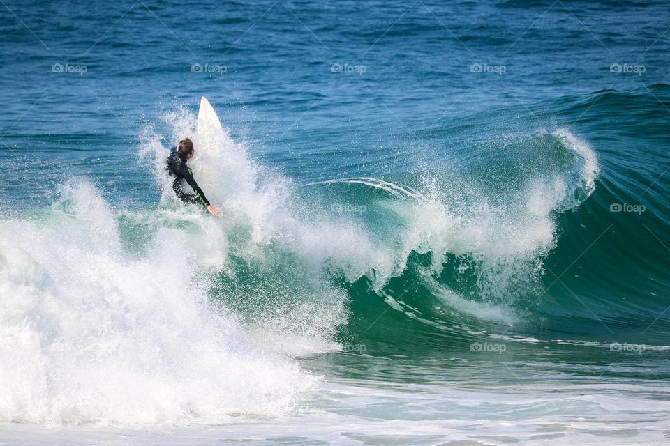 Surfer at The Wedge, Newport Beach, CA