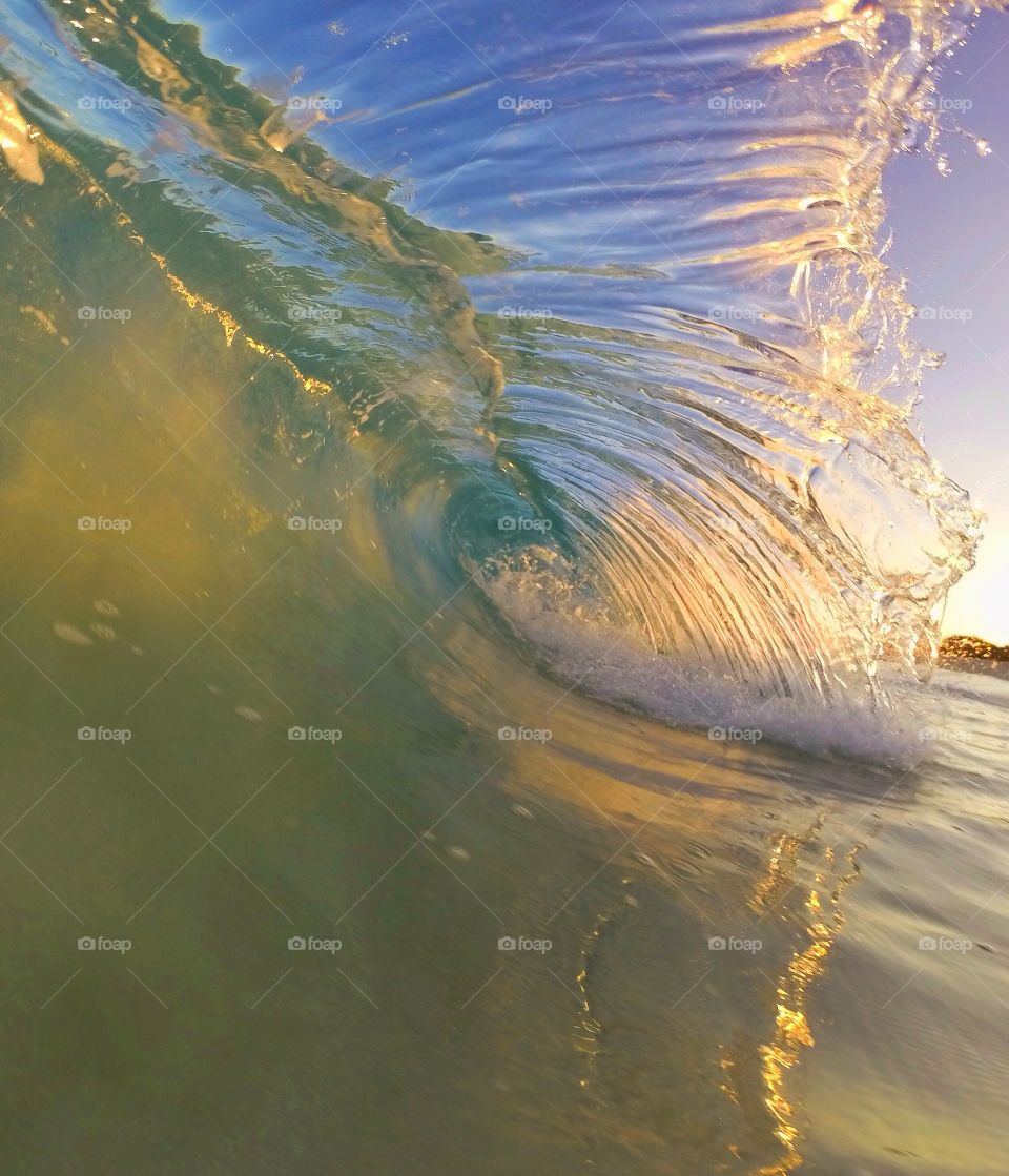 Close-up of a wave