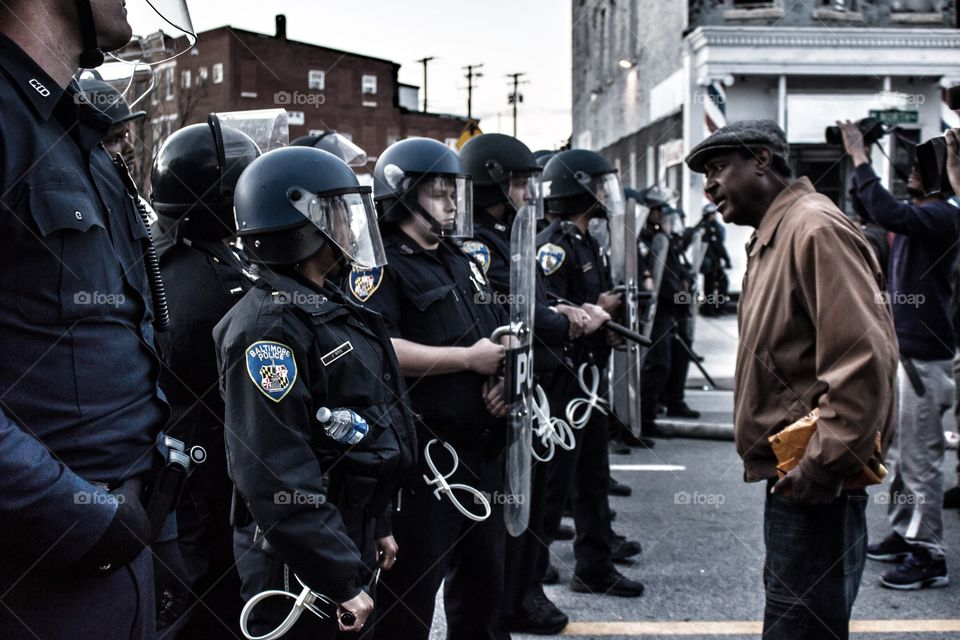 Understand my pain. An older gentleman is asking police how they feel about brutality