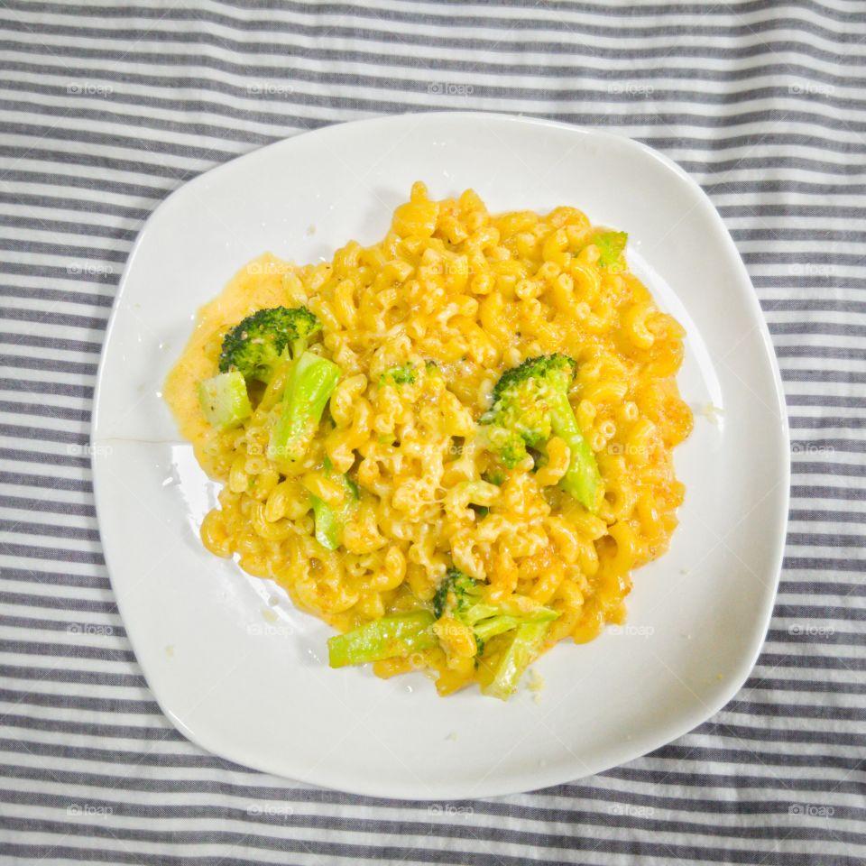 High angle view of a macaroni