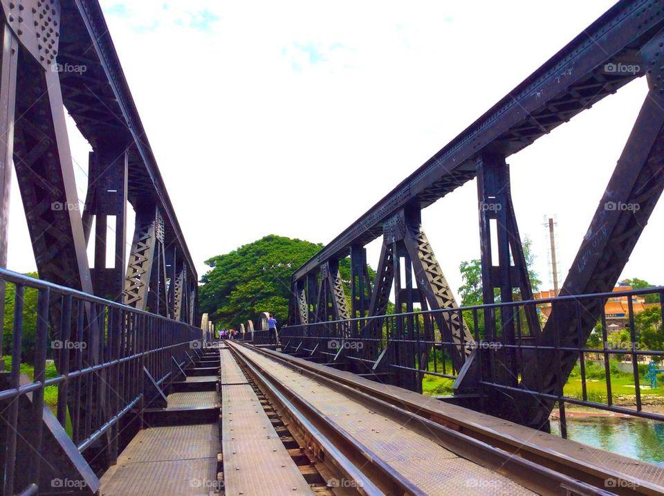 River Kwai bridge and the Death Railway in thailand.