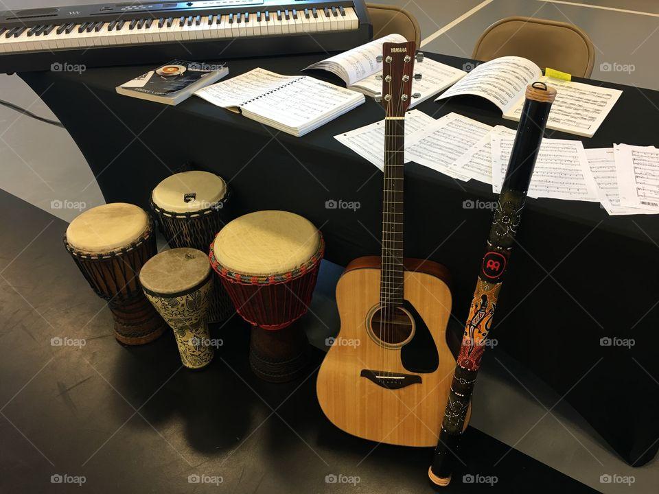 Musical instruments drum guitar Digory do