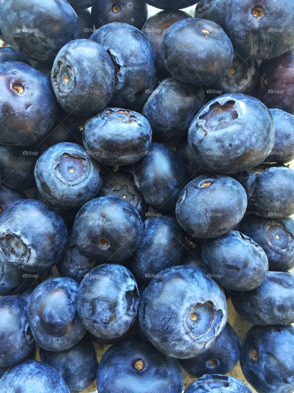 Full frame shot blueberries