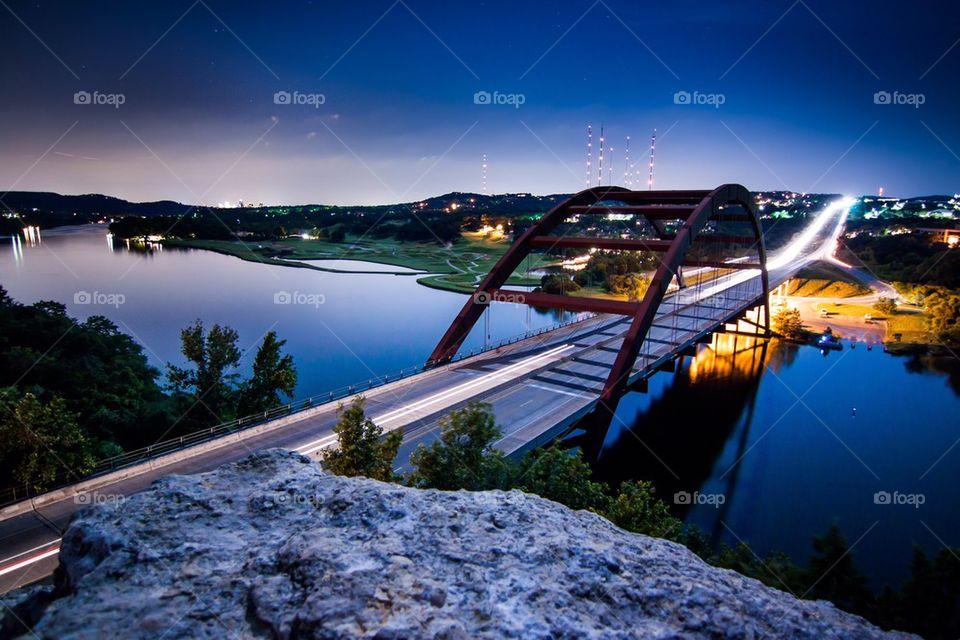 Penny backer bridge at Austin, Texas