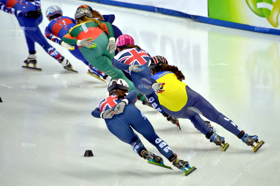 14 January 2017 European Short Track Speed Skating Championships in Turin